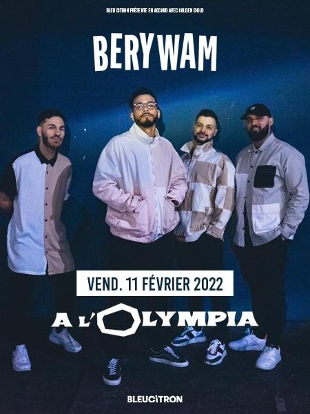 BERYWAM Concert à l'Olympia 11 février 2022 Paris 75